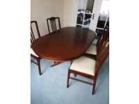 Mahogany Furniture. Table & 4 chairs, TV unit,Corner unit, Nest of tables,Sideboard,Fire Surround