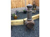 4ft Tall Cast Iron Chimenea / Log Burner