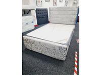 Upholstered frame beds