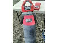 Punch bag and head guard glove