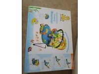 BRAND NEW UNOPENED Just4baby Musical Melodies Soothing Vibration Baby Bouncer DINOSAUR Design
