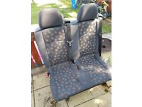 Mercedes rear seats quick release double bench.