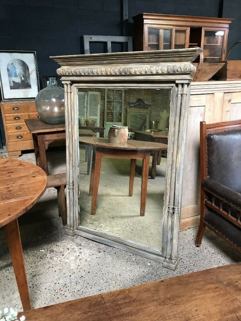 Stunning Large Antique French Bevelled Mirror