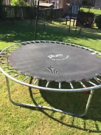 8ft plum trampoline base with mat and springs, poles and safety net not supplied