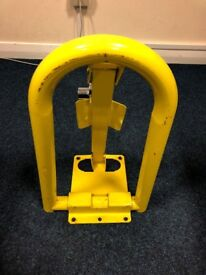 Security Parking Bollard/ Post - Complete with key/ Folds flat