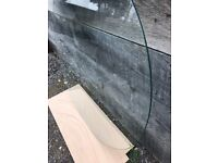Circular glass table top
