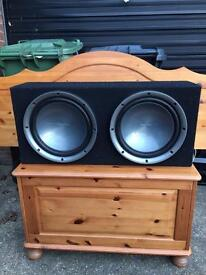 2x kenwood 1000w subs in box and 1200w Edge amp