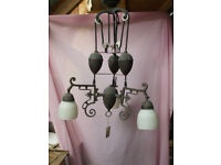 Reproduction French rise and fall lamp