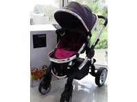 iCandy Peach 2 Pram Berry Bonbon footwarmer and adapters