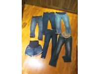 Job Lot Maternity Jeans Medium M 12 34 - five pairs jeans, one pair shorts
