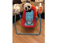 Battery powered Baby swing with lullabys