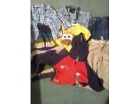 Boys Clothes and 2 Sleeping Bags Bundle  12-18 months