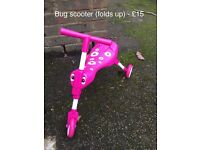 Pink bug scooter