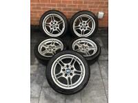 """BMW E39 M-SPORT STYLE 66 17"""" ALLOY WHEELS STAGGERED 8J + 9J"""