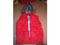 Girls Red Gilet Age 9-10 years