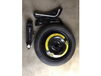 VW Up! spacesaver spare wheel, jack and wheel brace