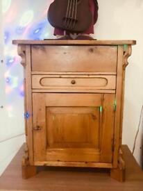 Antique pine vanity unit
