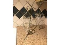 Partylite tea light holder and Yankee candle tea light holders and a fragrance burner