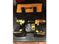2x drills and charger with 2 1.5amp batteries.