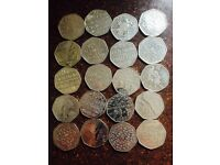 50p coins Collectable