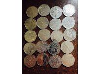 50p coins Collectable