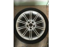 "BMW 18""alloy wheel and tyres e46"