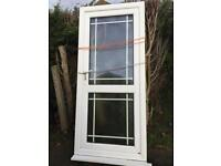 Double glazed door and frame