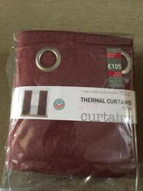 Thermal Curtains, Red