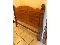 5 ft king size heavy solid wood bed with mattress