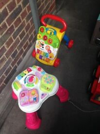Baby walking toy and musical table.