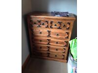 Solid and ornate Chest of Drawers for sale