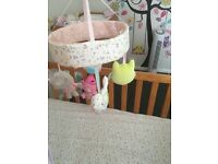 Woodland friends cot mobile and bedding