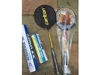 Brand new badminton equipment