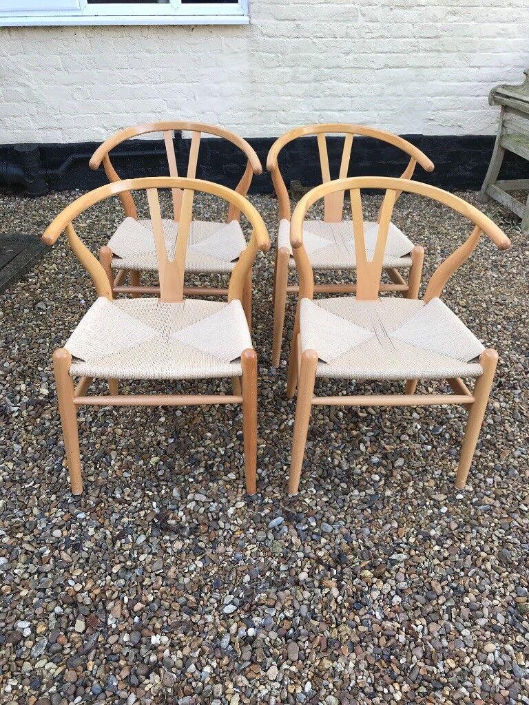 4 Wishbone Hans Wegner Style Wooden Dining Chairs 163 125 00 Each Chair In Harleston Norfolk