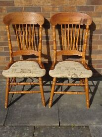 pine carved chairs