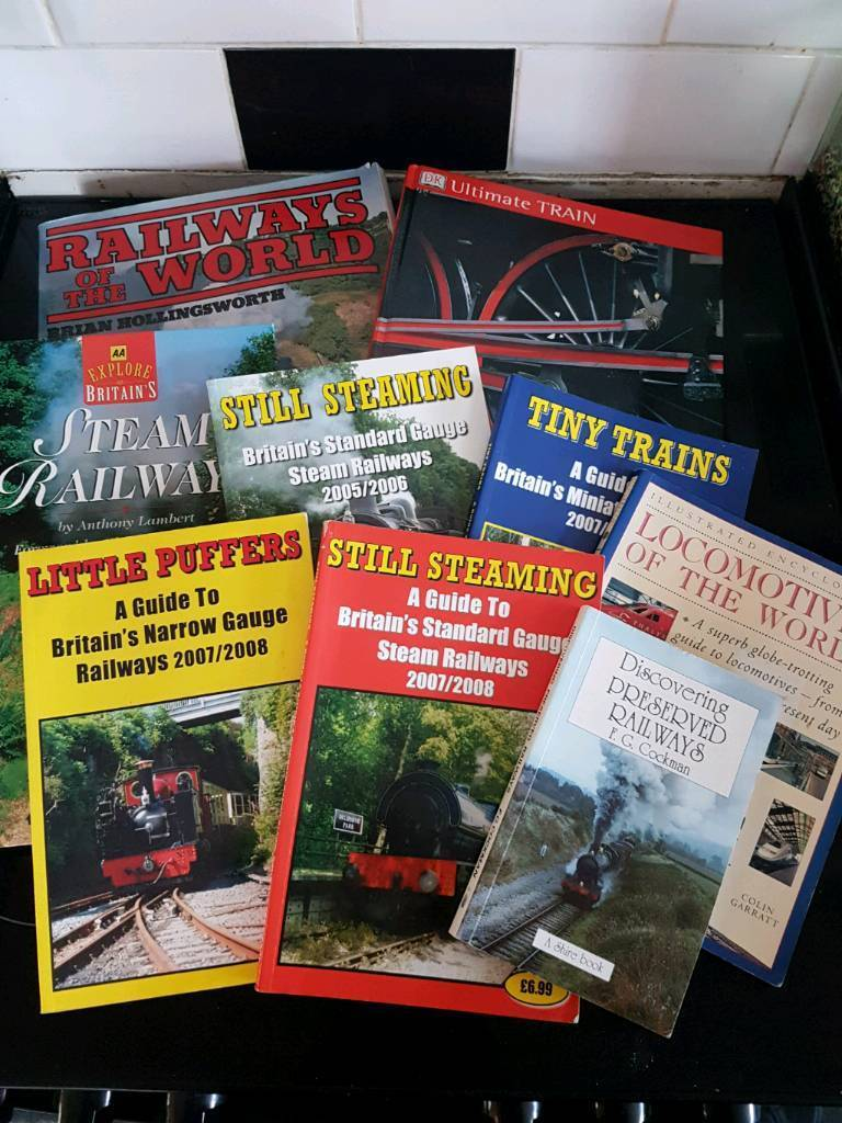 Selection of trains and railways books