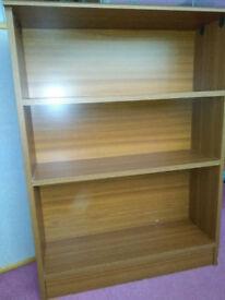 Wood effect book case