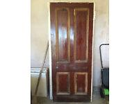 Door - Original Victorian tenement 4-panel wood door. Dimensions: 850mm x 2023mm