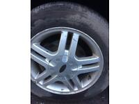 Ford Focus 195x60x15 alloy wheels and tyres 4 stud