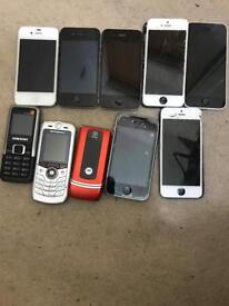 Job lot mixed mobile phones for sale. Non working