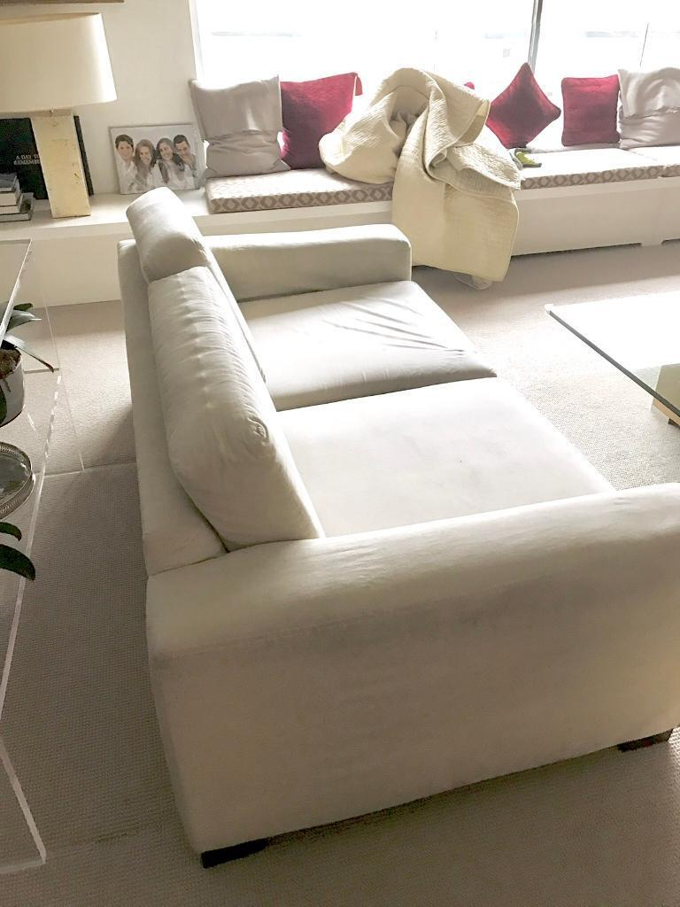 Ikea Sofa Beige Very Comfortable 3 Years Old Cosy Soft Velour Has Thick Washable Covers Bargain