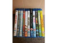 Mixture of blu-ray dvds