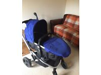 Baby Pushchair and car seat blue open to offers