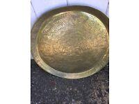 Early 20th century brass tray