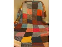 Large Hand Knitted Throw
