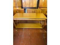 Retro 1970's G plan Long John Veneered Coffee Table With magazine shelf . Lovely mid century design