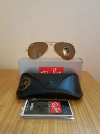 Ray-ban aviator sunglasses brown