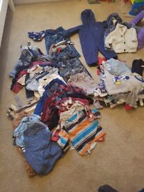 Large bundle of 9-12 months boys clothes mainly next