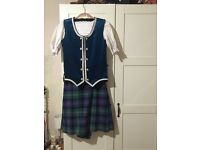Highland Dancing Outfit with braces (if needed)