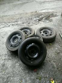 4 x 108 steels x 5 with 4 good tyres